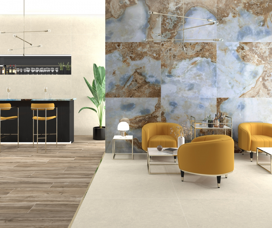 Tile of Spain Trends - Rocking the Blues - CR Lux Danae by Pamesa