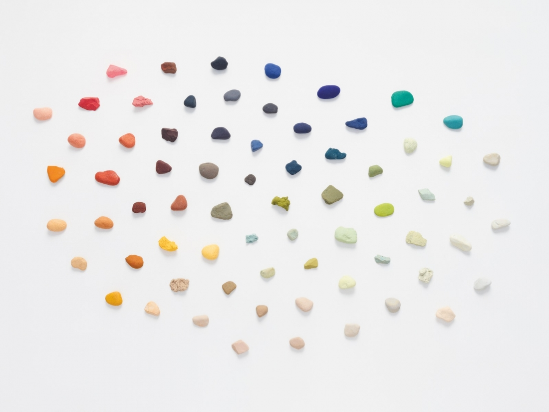 Karin An Rijlaarsdam inspirational images coloured stones. Colour study for Interlace and Encircle.