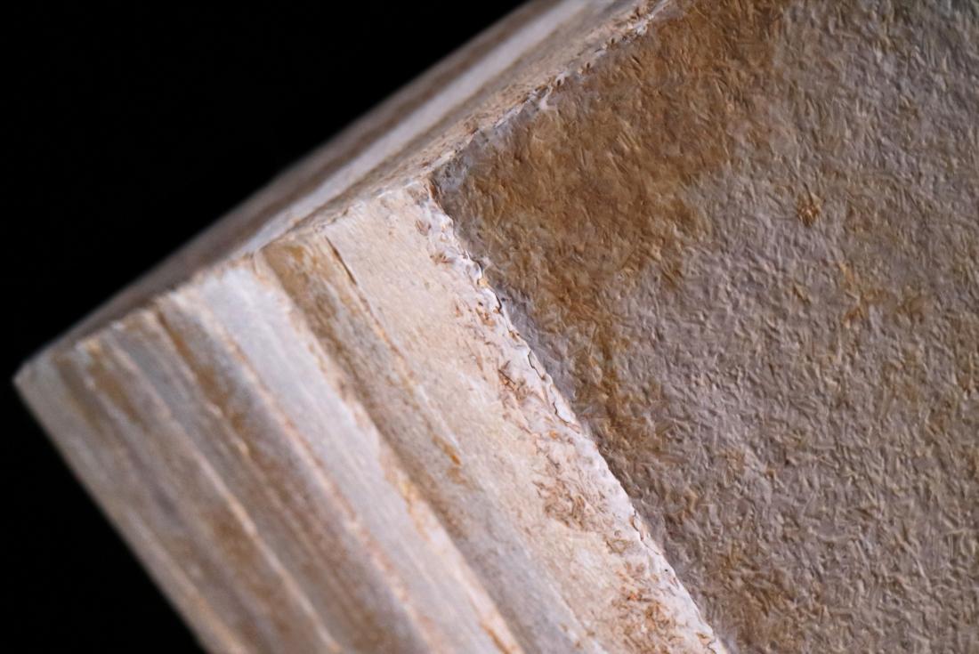 BIOHM - Mycelium insulation panels close up.