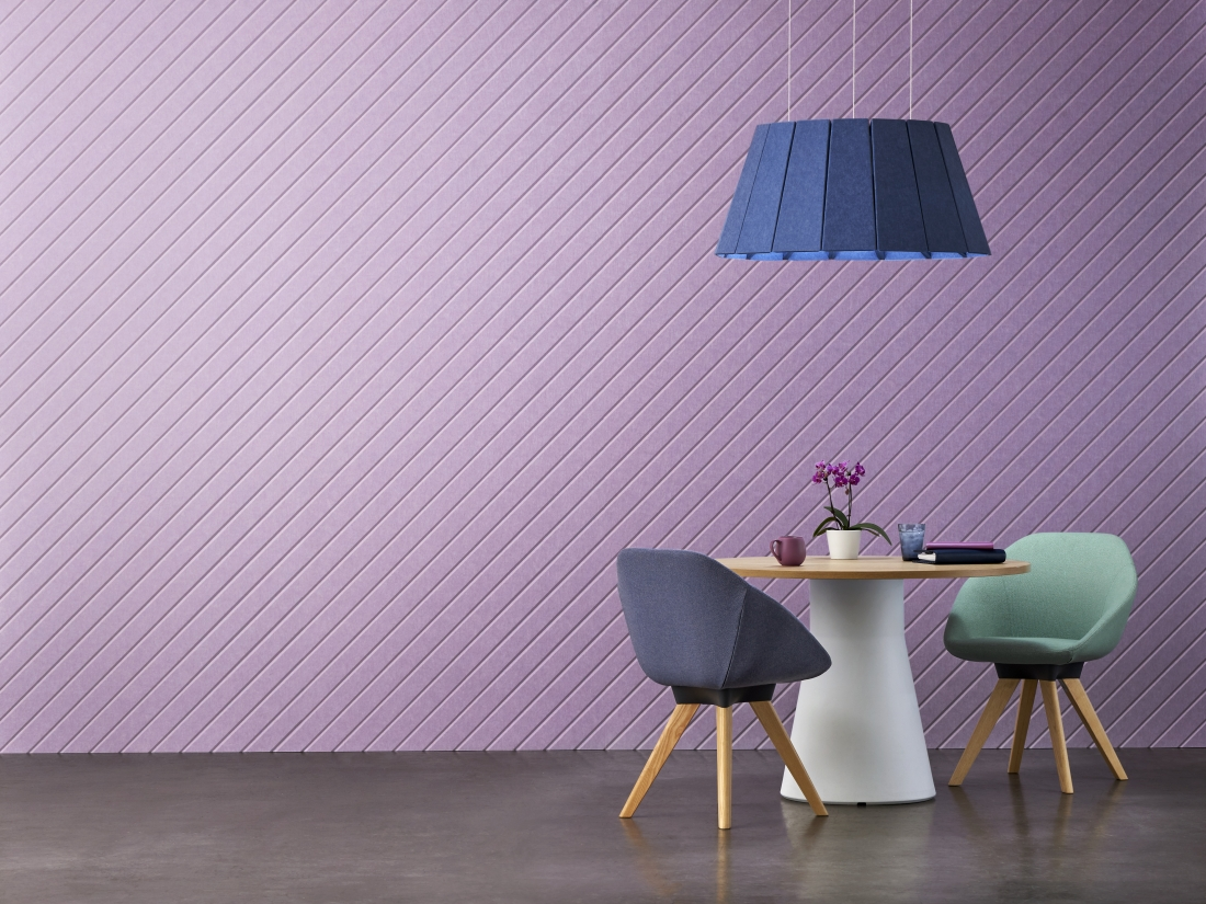 EchoPanel Meridian in Orchid and light in Coronet