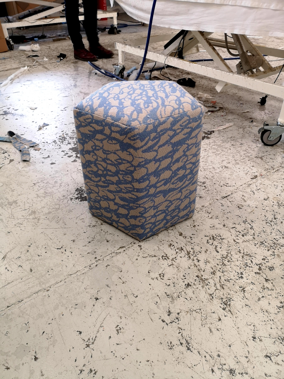 Image by Ella Doran - First prototype upholstered stool from Coakley Cox