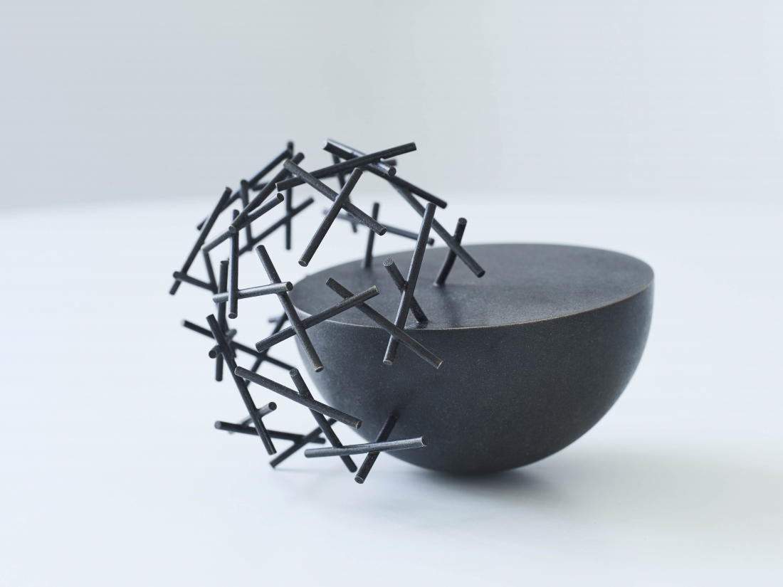 Ane Christensen Cloud Bowl patinated copper for COSMIMA show London Craft Week 2018. Courtesy of Studio Fushion