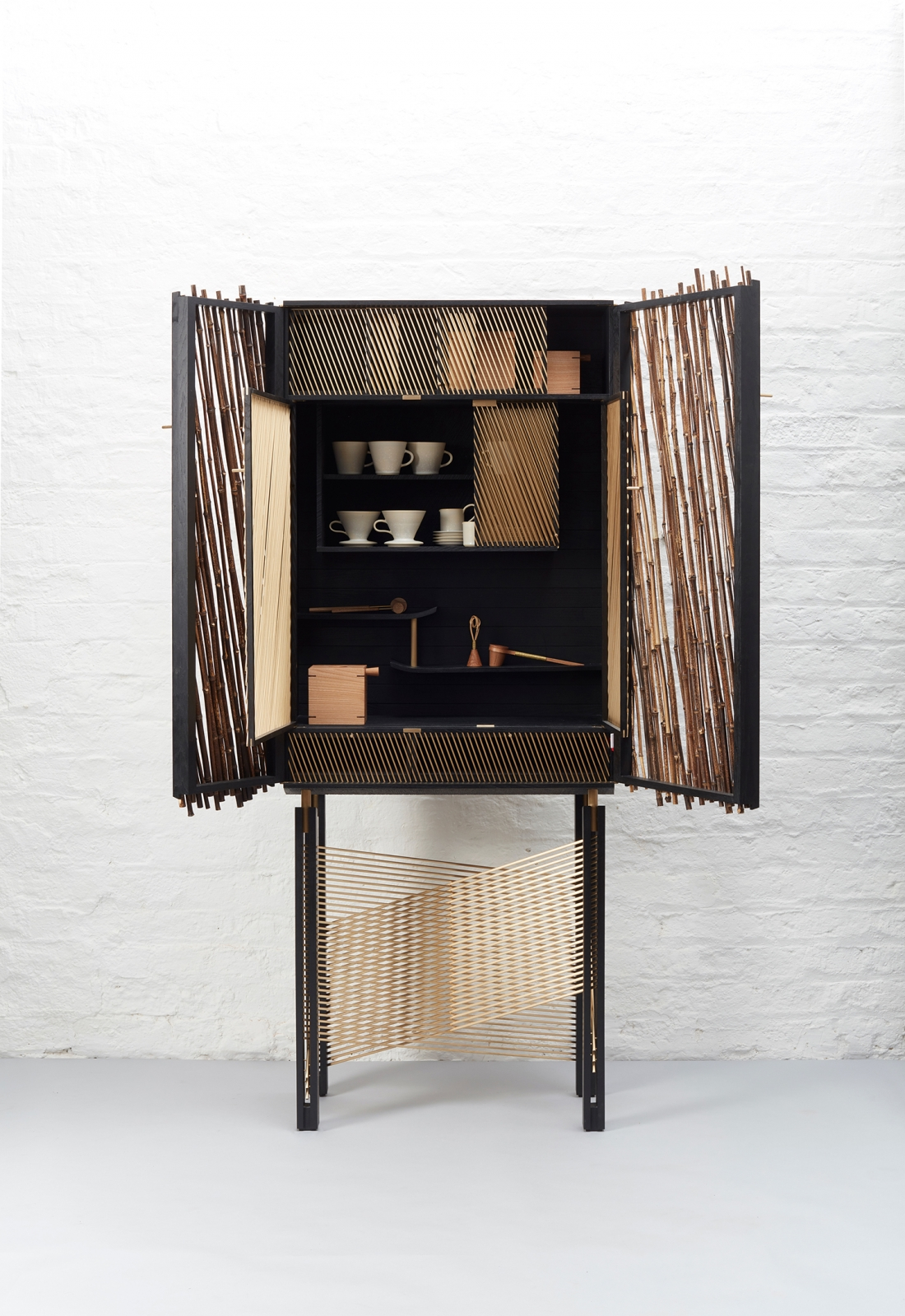 in shadows is a japanese inspired black stained drinks cabinet by rh materialsource co uk