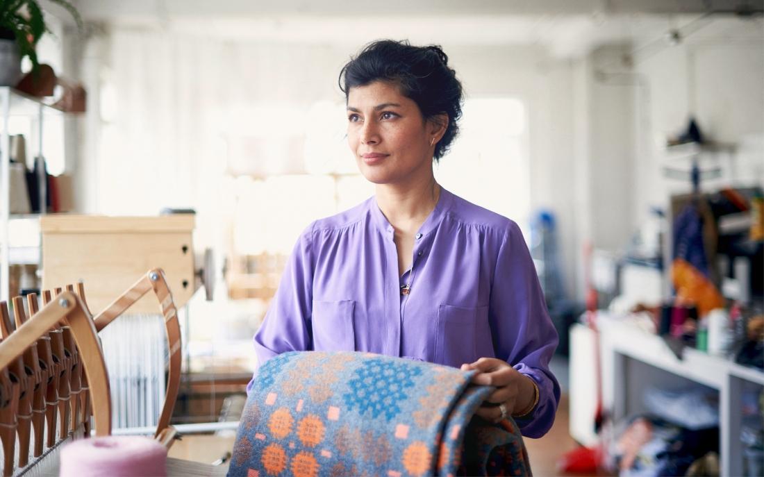 Majeda Clarke, Woven Textile Artist. Cockpit Arts, London Craft Week 2019