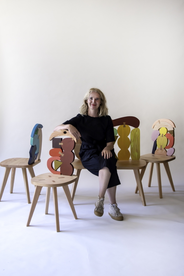 Abstract Assembly chairs | Donna Wilson