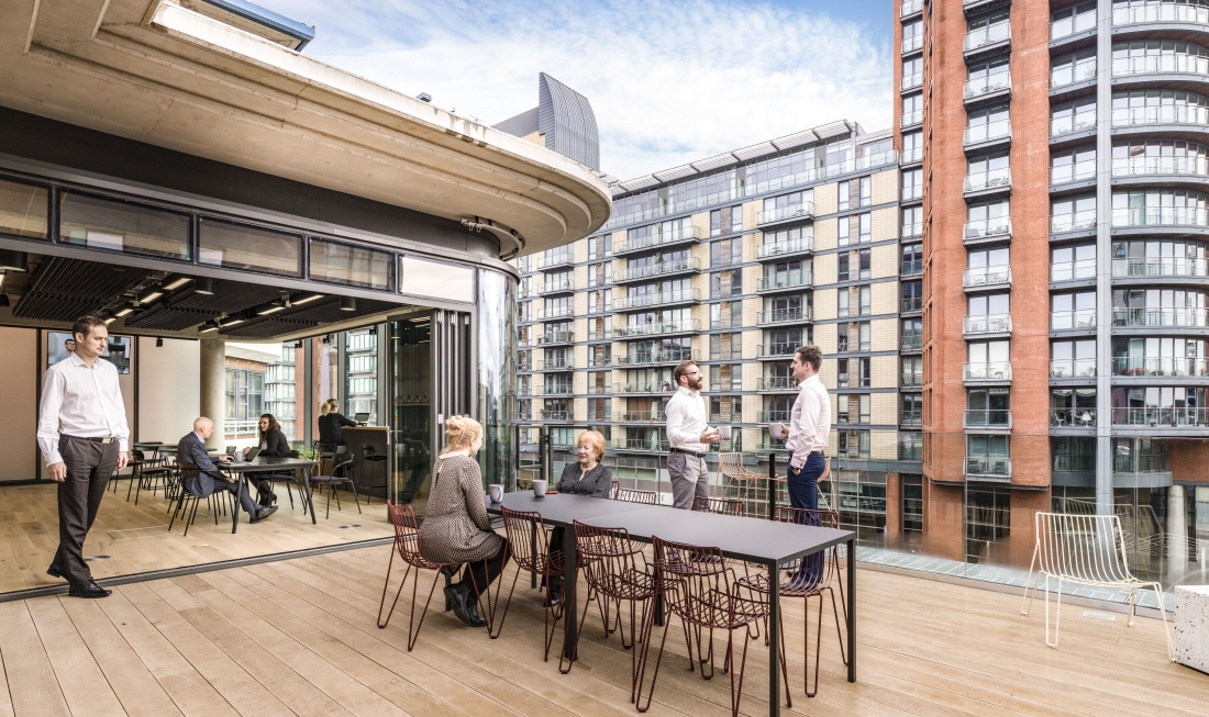 The riverside location was also key to the design, with direct views afforded by this terrace area.