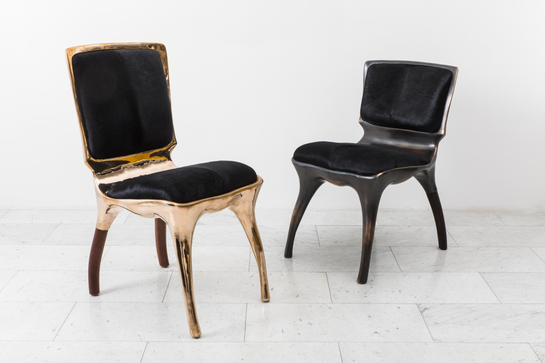 Tusk chairs by Alex Roskin. Courtesy of Todd Merrill Studio