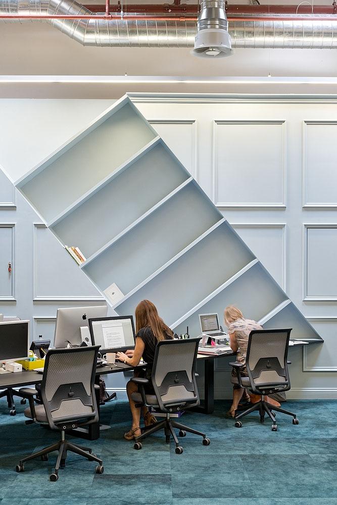 Absurdist bookcase at BrandOpus
