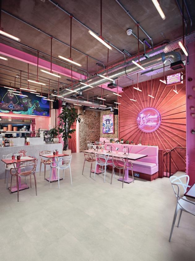 Kardean Designflooring - Korlok - RKT2401 Frosted Stone Cafe / Restaurant