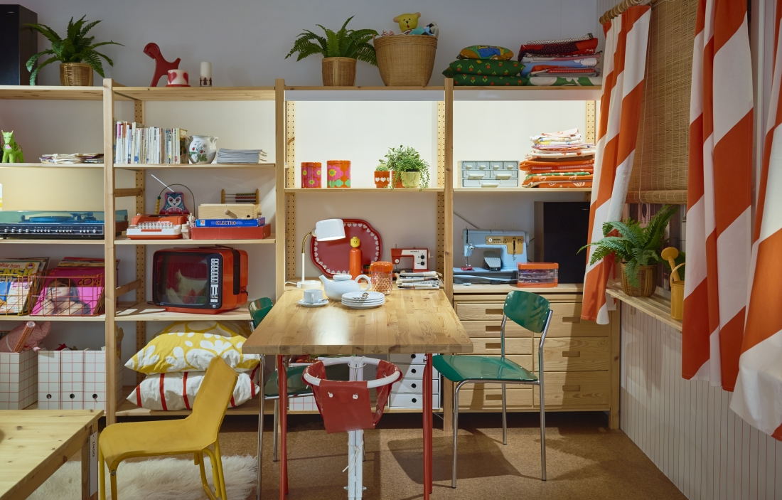 In the 1970s like pine, kids were welcome in every room. © Inter IKEA Systems B.V. 2016