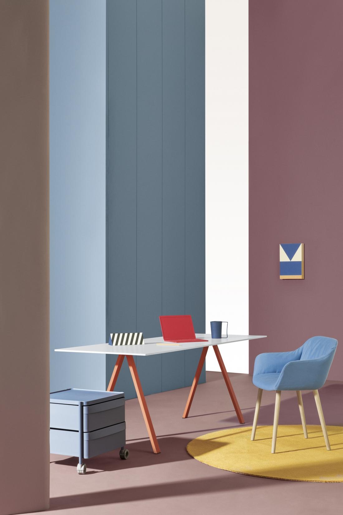 Pedrali, Arki-Desk, art direction: Studio FM, photo: Andrea Garuti
