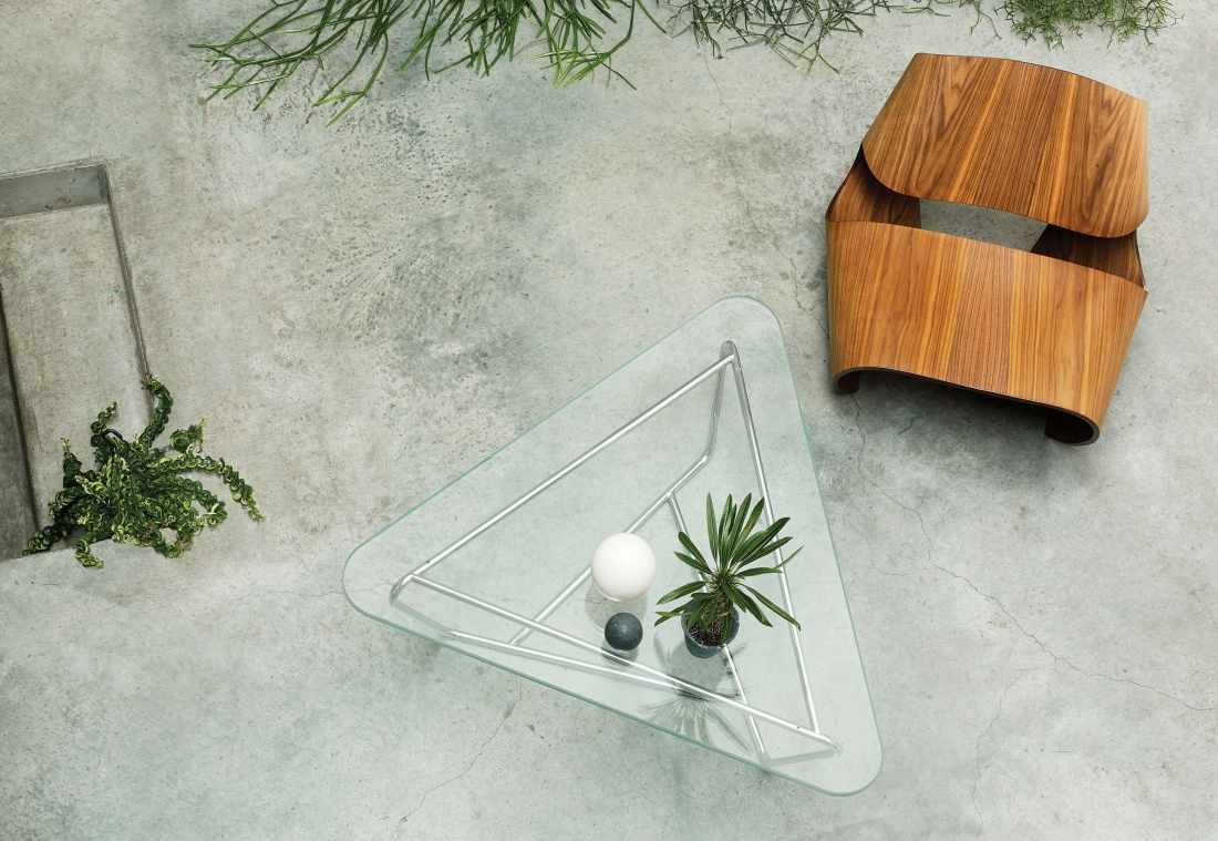 Prism Coffee Table and Cowrie Chair - Made in Ratio