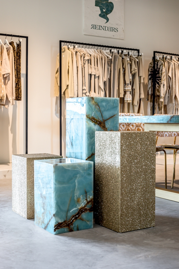 Marbel Furniture by SolidNature enhances Dutch fashion brand Reinders.