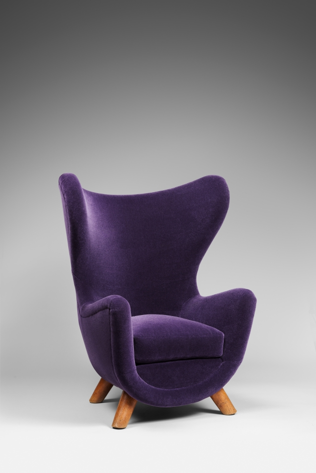 "Fauteuil ""Eléphanteau"" 1949 by Jean Royère. Courtesy of Galerie Chastal Marechal"