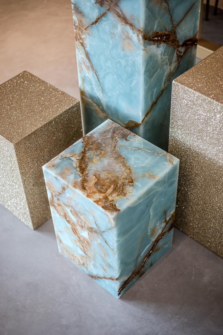 Marbel Furniture by SolidNature enhances Dutch fashion brand Reinders.