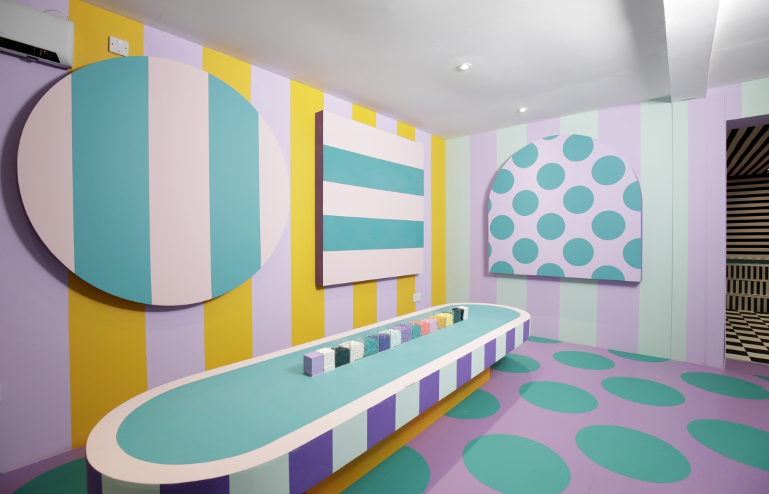 Installation Camille Walala HOUSE OF DOTS LEGO Photo Credit Getty Images