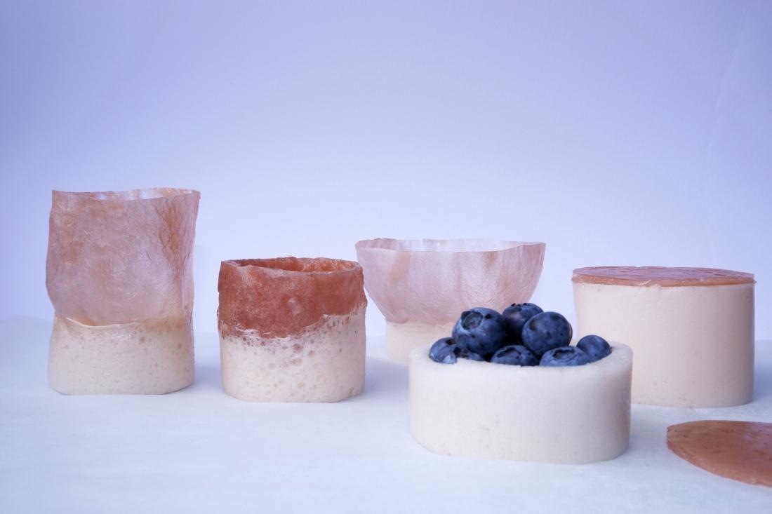 Paula Nerlich, Circular Materials, Aqua Faba Foam tableware © Paula Nerlich