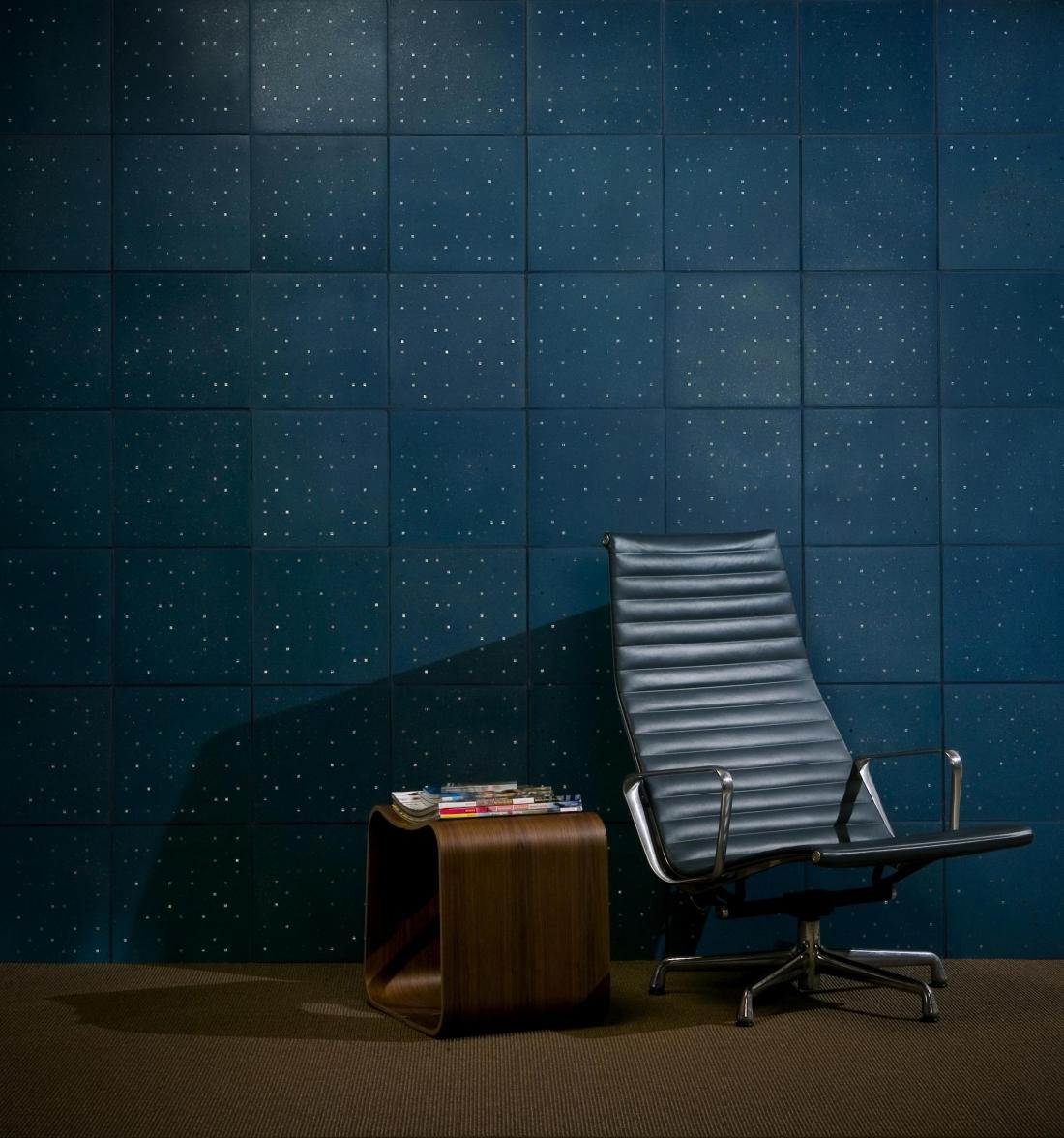 Terrazzo Blue Tile Wall.