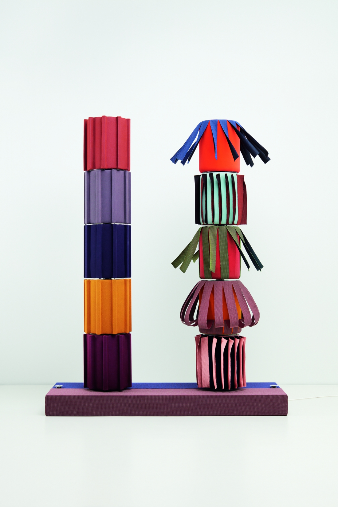 Knit Project - Objects of Common Interest Doric Columns Kinetic Object 2020 Copyright Luke Evans
