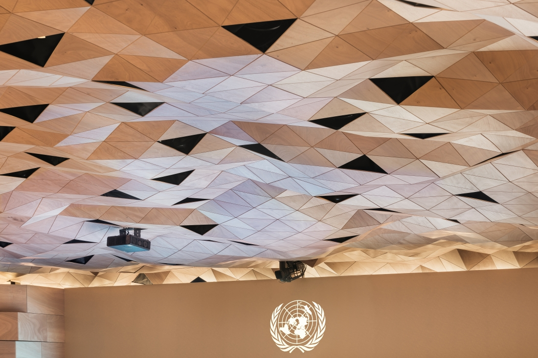 WOOD-SKIN - United Nations Palace in Geneva - Image credit - DSL Studio