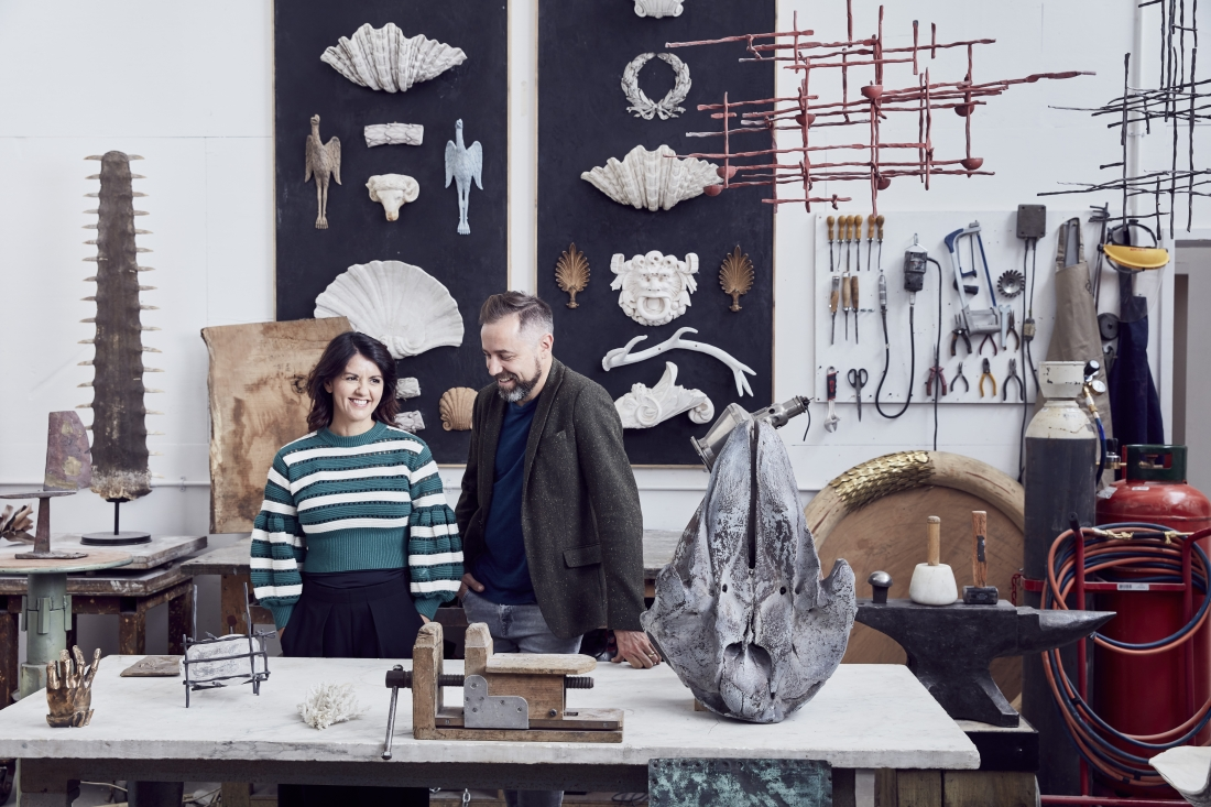 Christopher and Nicola Cox. Courtesy of Cox London. Image by Alun Callender, London Craft Week
