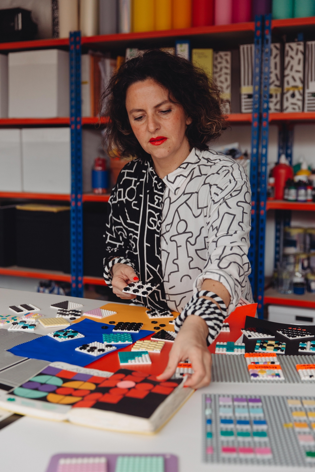 Camille Walala in studio 2020 Photo Credit Dunja Opalko