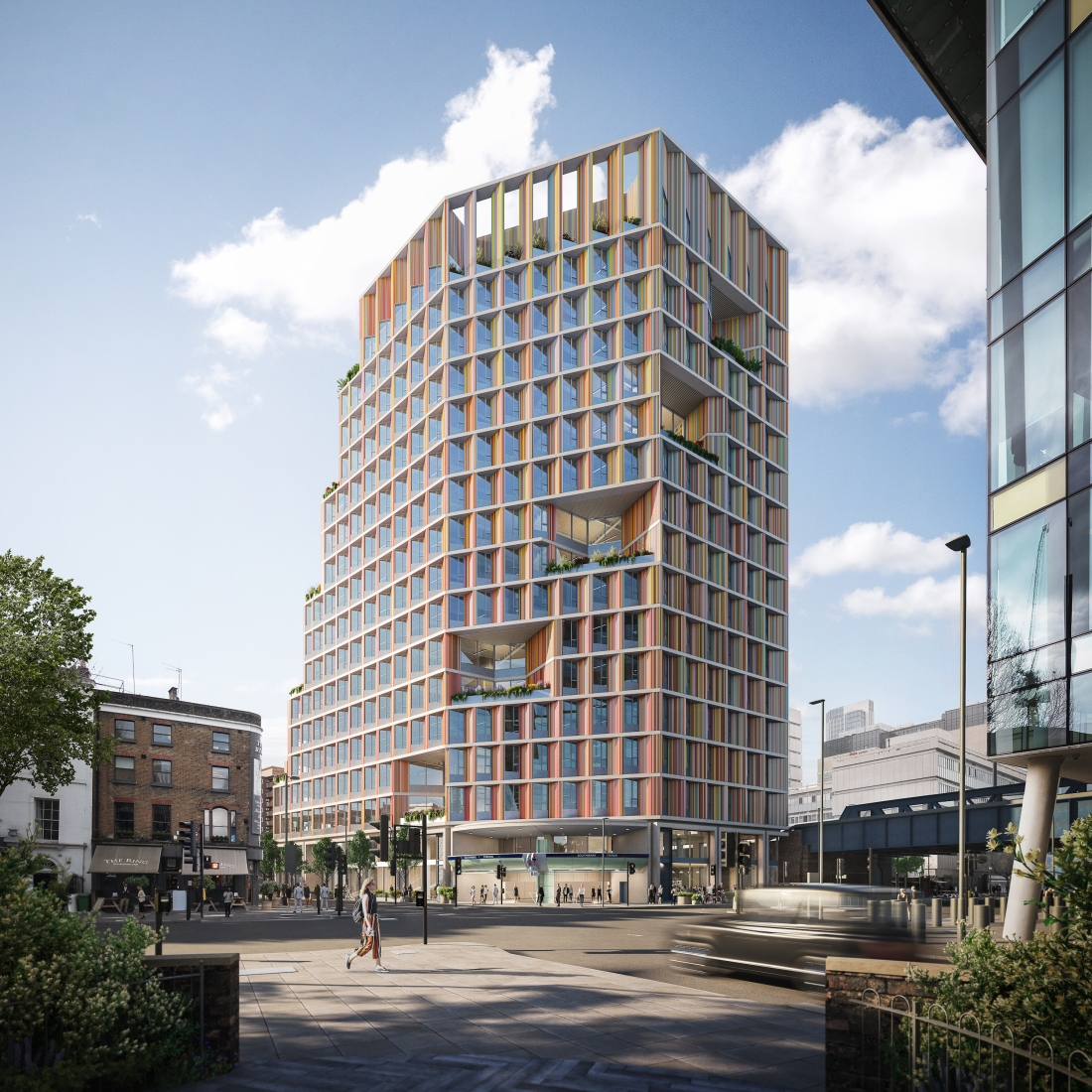 Proposals for Southwark Tube Over Site Development. Credit: AHMM/ Hayes Davidson