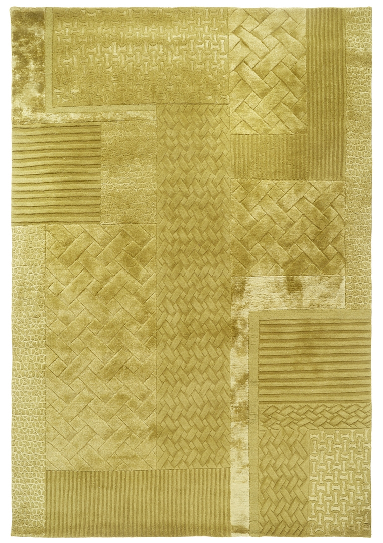 18.01 London X FLOOR_STORY Carve Citrine, hand-knotted wool, linen and bamboo silk.