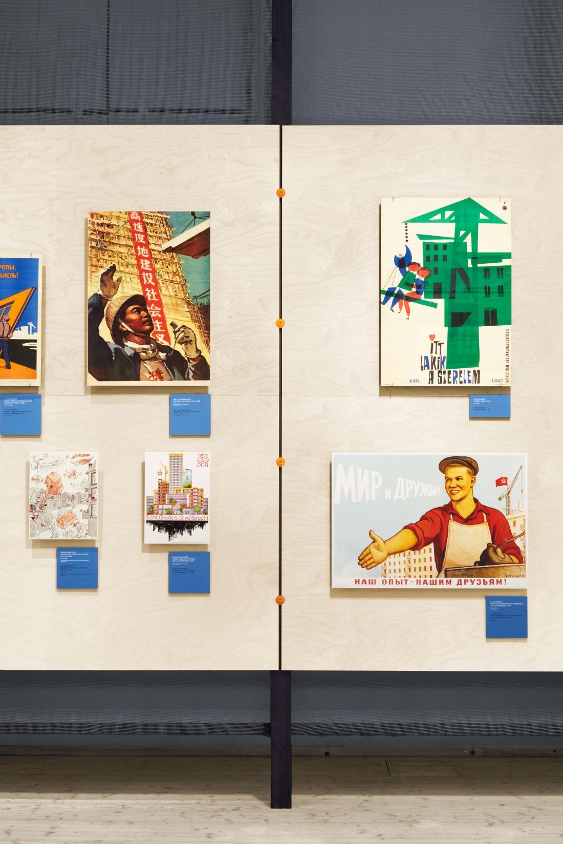Note Design Studios Flying Panels Credit - ArkDes Exhibition Design Note Design Studio