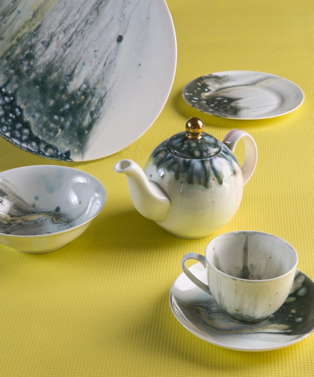 Coralla Maiuri - Stone Green Tea Set