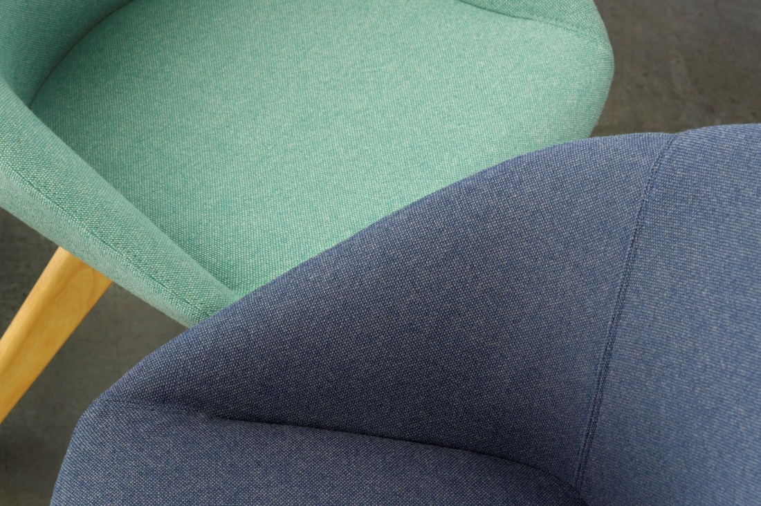 Airport Fabric in Viridian Green and Marine