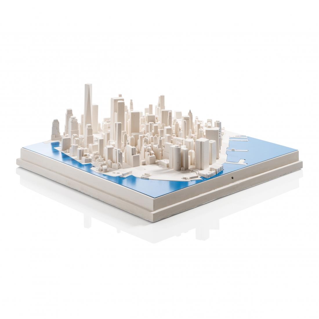 New York 'Blue River' Cityscape.