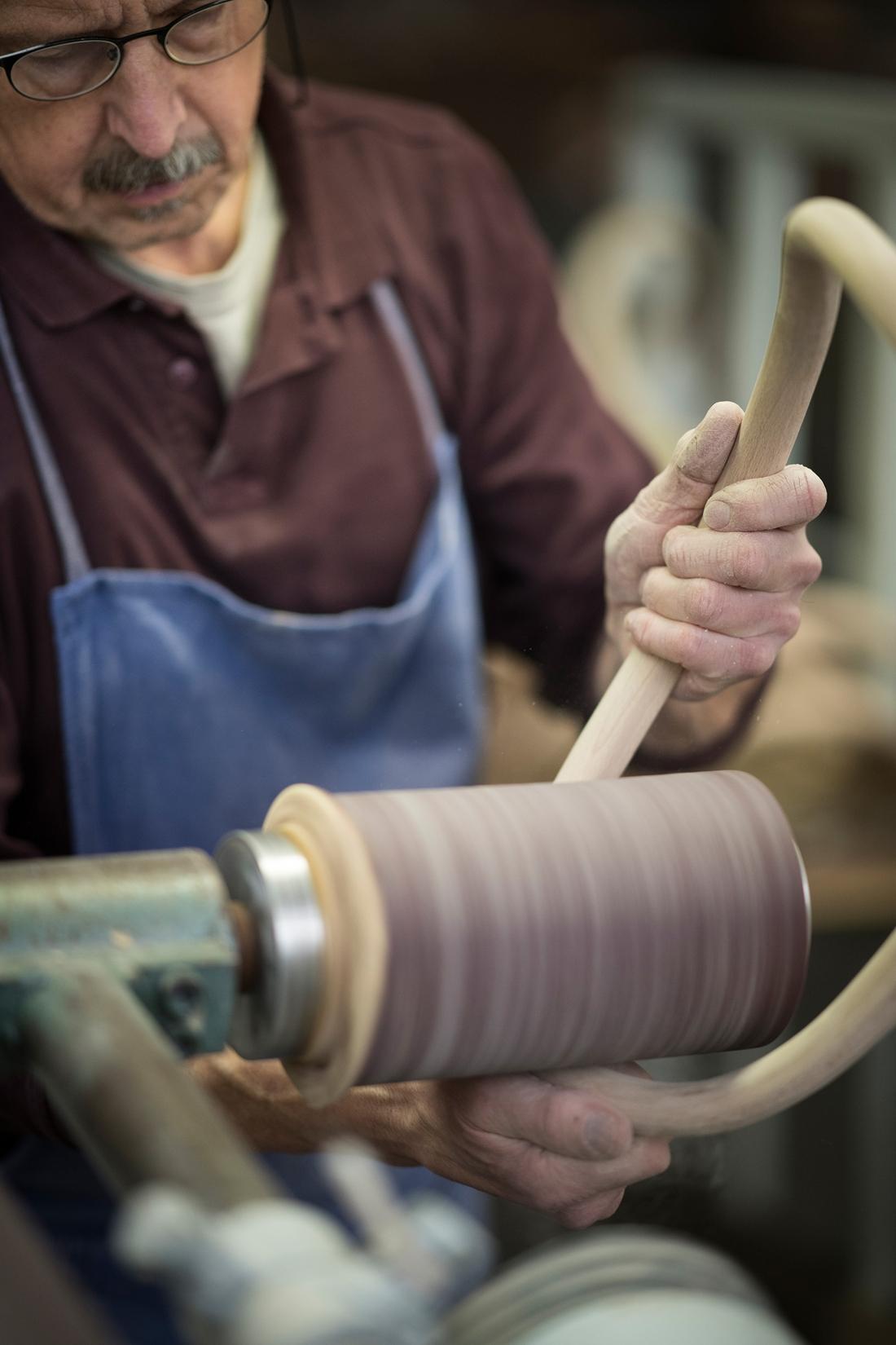 Thonet Production - Bent Wood Sanding ©Thonet
