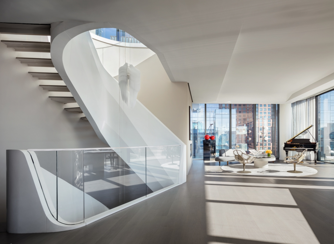 Zaha Hadid Designs A 50m Luxury Penthouse Home In West