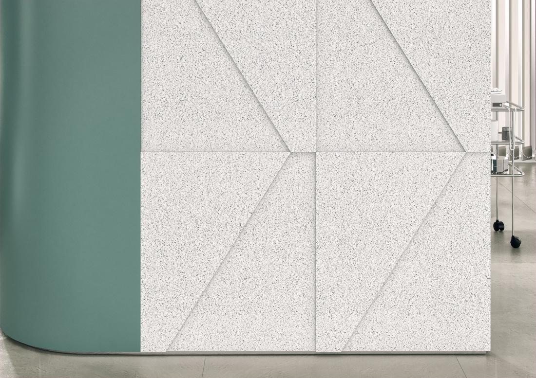 Corian® Solid Surface Domino Terrazzo Healthcare